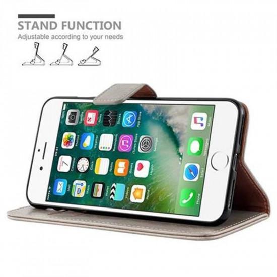 Cadorabo Apple iPhone 7 Plus / 8 Plus Θήκη Πορτοφόλι Stand από Δερματίνη - Brown - Cappuccino