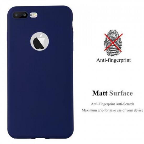 Cadorabo Apple iPhone 7 Plus / 8 Plus Matte Θήκη Σιλικόνης - Dark Blue