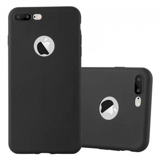 Cadorabo Apple iPhone 7 Plus / 8 Plus Matte Θήκη Σιλικόνης - Black