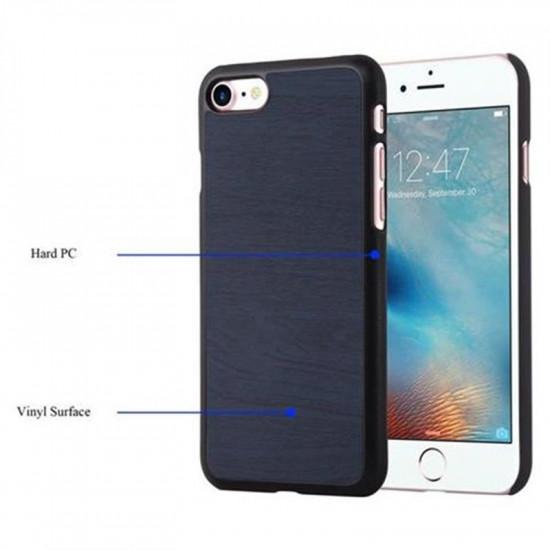 Cadorabo Apple iPhone SE 2020 / 7 / 8 Θήκη Σιλικόνης με Όψη Ξύλου - Blue