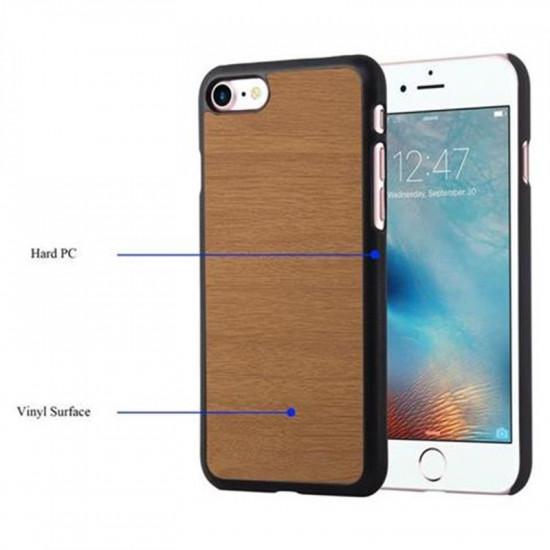 Cadorabo Apple iPhone SE 2020 / 7 / 8 Θήκη Σιλικόνης με Όψη Ξύλου - Brown