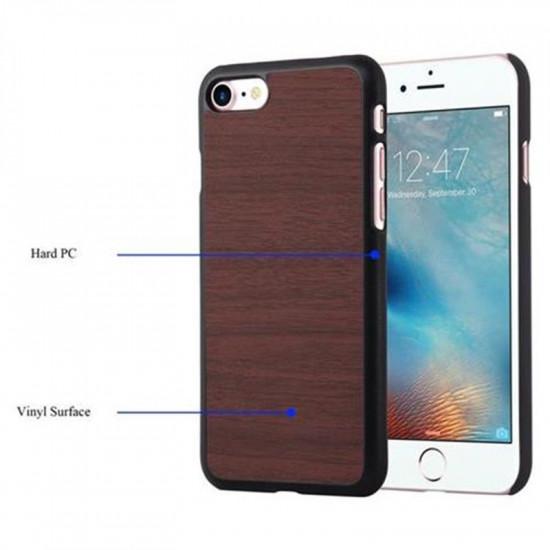 Cadorabo Apple iPhone SE 2020 / 7 / 8 Θήκη Σιλικόνης με Όψη Ξύλου - Dark Brown