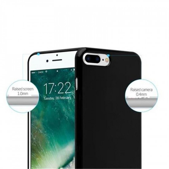 Cadorabo Apple iPhone 7 Plus / 8 Plus Θήκη Σιλικόνης - Jelly Black