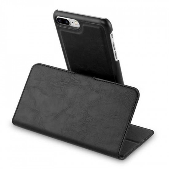 Cadorabo Apple iPhone 7 Plus / 8 Plus Θήκη Πορτοφόλι Stand 2in1 - Black