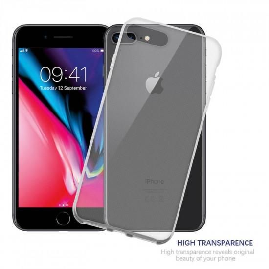 Cadorabo Apple iPhone 7 Plus / 8 Plus Λεπτή Θήκη Σιλικόνης - Διάφανη