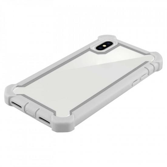 Cadorabo iPhone X / XS Σκληρή Θήκη Υψηλής Προστασίας με Πλαίσιο Σιλικόνης - Grey