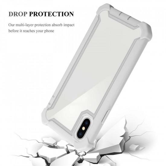 Cadorabo Apple iPhone XS Max Σκληρή Θήκη Υψηλής Προστασίας με Πλαίσιο Σιλικόνης - Grey