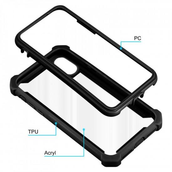 Cadorabo Apple iPhone XR Σκληρή Θήκη Υψηλής Προστασίας με Πλαίσιο Σιλικόνης - Black