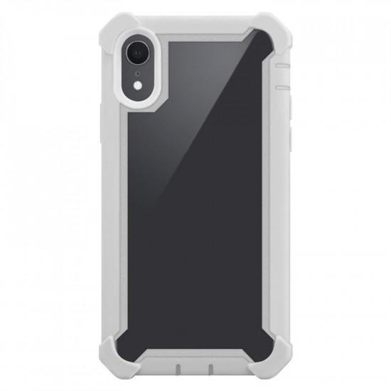 Cadorabo Apple iPhone XR Σκληρή Θήκη Υψηλής Προστασίας με Πλαίσιο Σιλικόνης - Grey