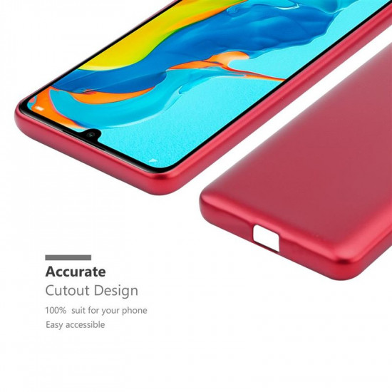 Cadorabo Huawei P30 Lite Θήκη Σιλικόνης - Metallic Red