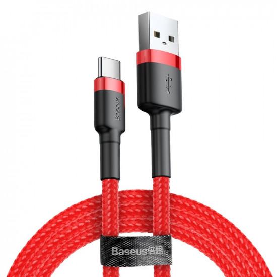 Baseus Cafule Cable Type-C 2A - Καλώδιο Δεδομένων και Φόρτισης Type-C 3M - Red - CATKLF-U09