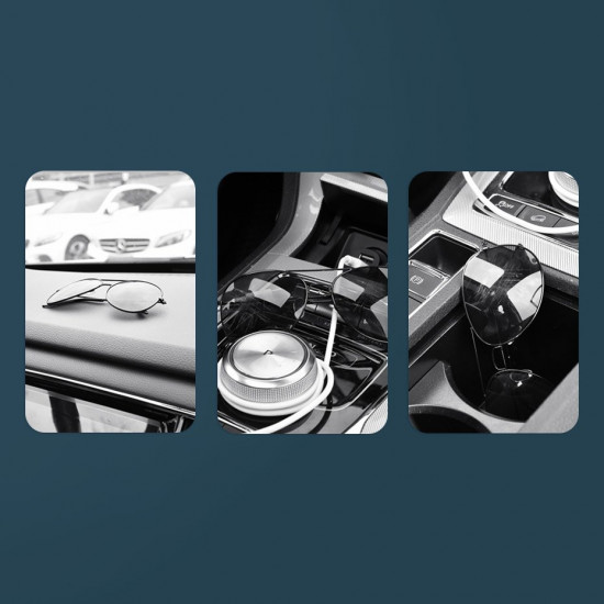 Baseus Platinum Vehicle Eyewear Clip Paste Type - Βάση Στήριξης Γυαλιών - Black - ACYJN-A01