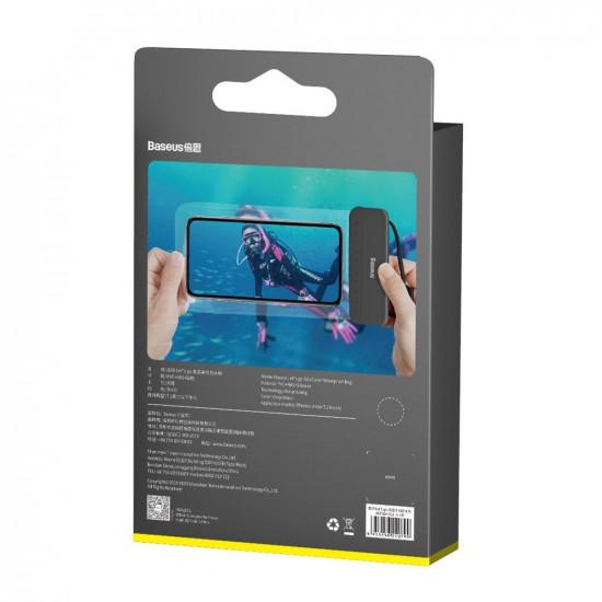 Baseus Let's Go Slip Cover Universal Αδιάβροχη Θήκη για Smartphones 7.2'' - Black - ACFSD-DG1
