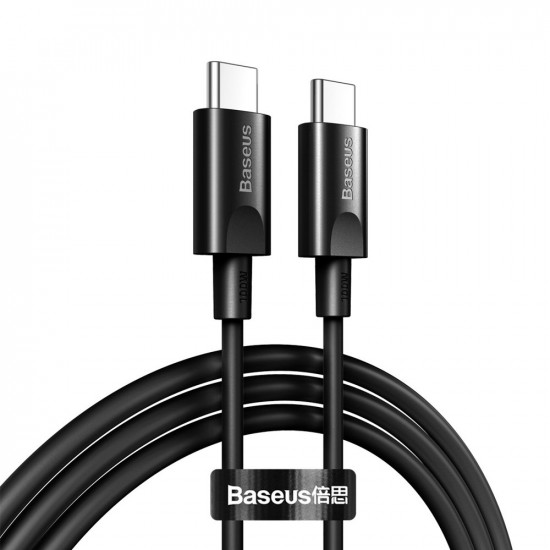 Baseus Xiaobai Cable Type-C 5A PD 100W - Καλώδιο Γρήγορης Φόρτισης Type-C to Type-C 1,5M - Black - CATSW-D01