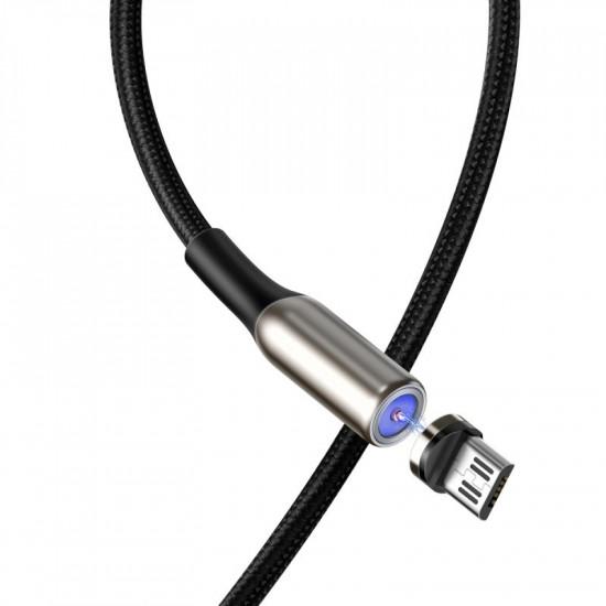 Baseus Zinc Magnetic Cable - Μαγνητικό Καλώδιο Micro USB 2A 1m - Black - CAMXC-H01