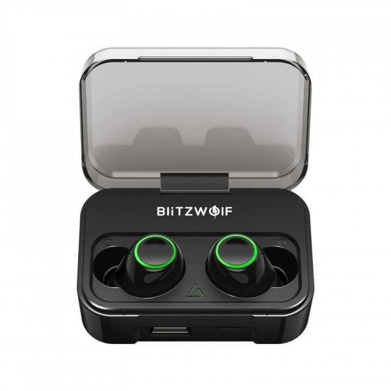 BlitzWolf Wireless Earphones Bluetooth 5.0 - Ασύρματα ακουστικά για Κλήσεις / Μουσική - Black - BW-FYE3