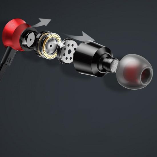 Baseus Encok S07 Sports Bluetooth Headset - Ασύρματα Ακουστικά για Smartphones - Silver / Red - NGS07-S9