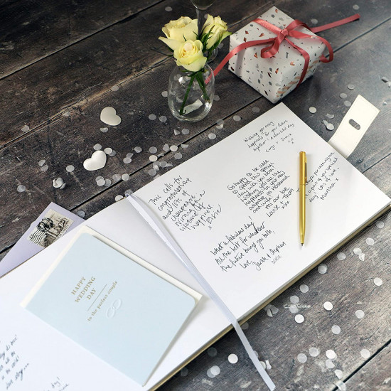 Busy B Guest Book - Βιβλίο για Ευχές - Faux Gold