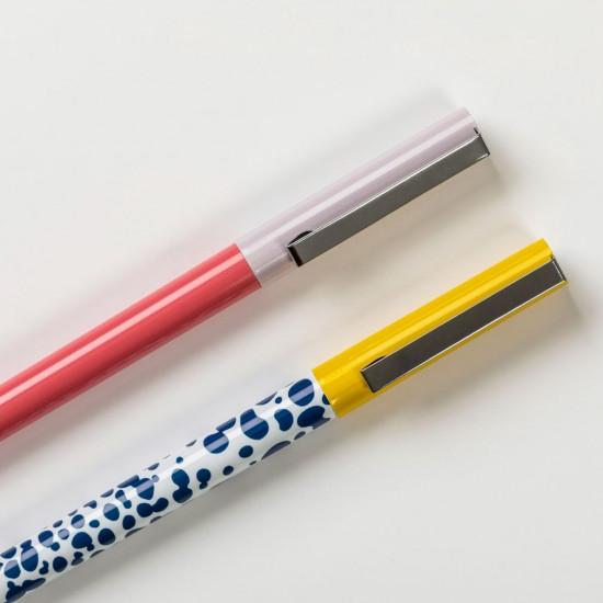 Busy B Rollerball Στυλό - Πακέτο με 2 Στυλό - Bright Stripes
