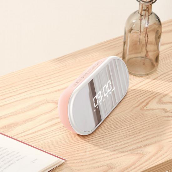 Baseus Encok E09 Ασύρματο Bluetooth Ηχείο / Ξυπνητήρι 6W - Pink - NGE09-04