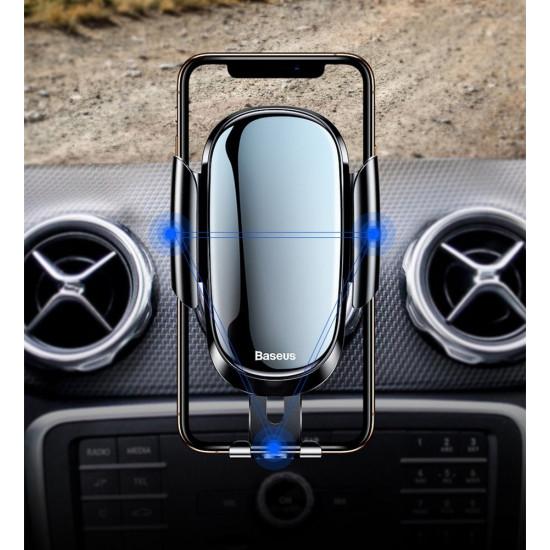 Baseus Future Gravity Car Round Air Vent Mobile Holder - Universal Βάση Αυτοκινήτου για Στρόγγυλο Αεραγωγό - Black - SUYL-BWL01