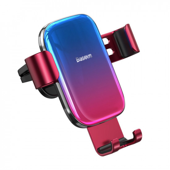 Baseus Glaze Gravity Car Air Vent Mobile Holder - Universal Βάση Αυτοκινήτου Αεραγωγού - Red - SUYL-LG09
