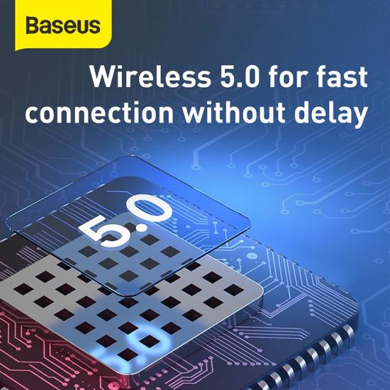 Baseus A05 Magnetic Bluetooth Earphone - Ασύρματο ακουστικό με Μαγνητική Βάση Φόρτισης - White - NGA05-04