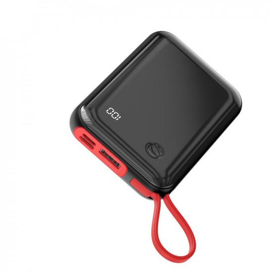Baseus Mini S Digital External Battery Power Bank 10000mAh 3A με Καλώδιο Lightning - Black - PPXF-B01