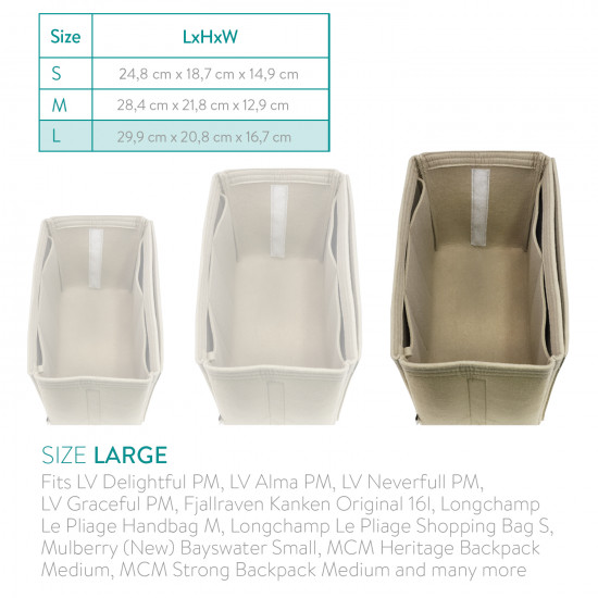 Navaris Τσάντα Αποθήκευσης - Size L - Beige - 50785.11.3