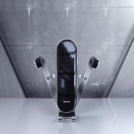 Baseus Penguin Gravity - Universal Βάση Αυτοκινήτου Αεραγωγού - Silver - SUYL-QE0S