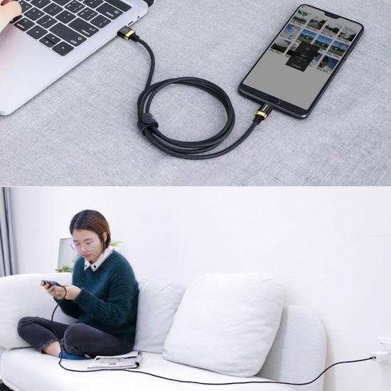 Baseus Purple Flash Charge Cable Type-C 5A 40W - Καλώδιο Γρήγορης Φόρτισης Type-C 2M - Black - CATZH-BV1