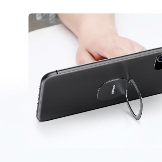 Baseus Invisible Ultra-Thin Ring Holder - Δαχτυλίδι Συγκράτησης Κινητού / Tablet - Βάση Στήριξης - Grey - SUYB-0A