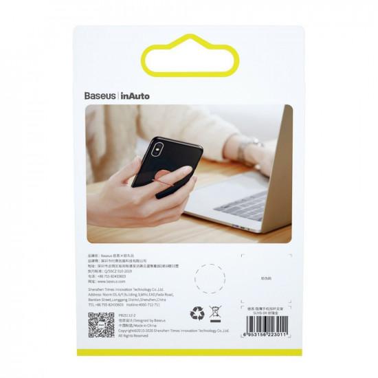 Baseus Invisible Ultra-Thin Ring Holder - Δαχτυλίδι Συγκράτησης Κινητού / Tablet - Βάση Στήριξης - Rose Gold - SUYB-0R