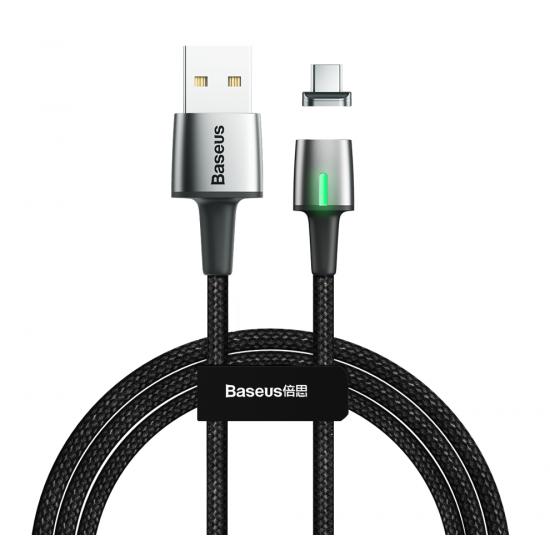 Baseus Zinc Magnetic Cable - Μαγνητικό Καλώδιο Type-C 2A 2m - Black - CATXC-B01