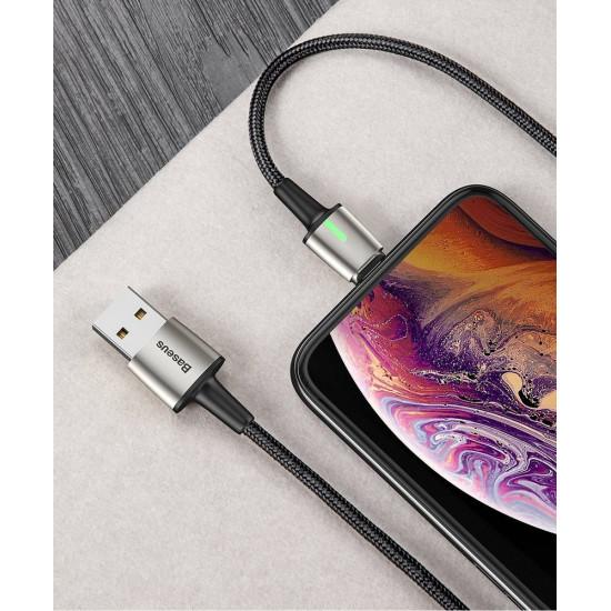 Baseus Zinc Μαγνητικό Καλώδιο Δεδομένων και Φόρτισης 2A 2m - Micro USB / Lightning / Type-C - Black - TZCAXC-B01