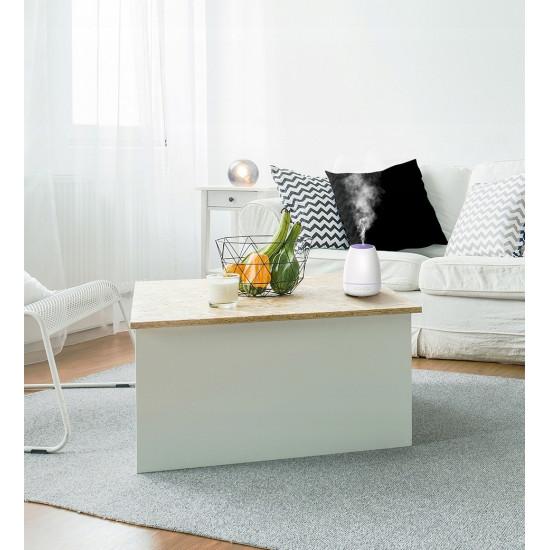 Baseus Creamy-White Aroma Diffuser Αρωματικό - Υγραντήρας με Λειτουργία Φωτός - 90ml - White - ACXUN-02