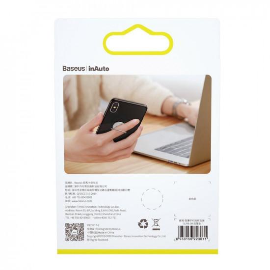 Baseus Invisible Ultra-Thin Ring Holder - Δαχτυλίδι Συγκράτησης Κινητού / Tablet - Βάση Στήριξης - Silver - SUYB-0S