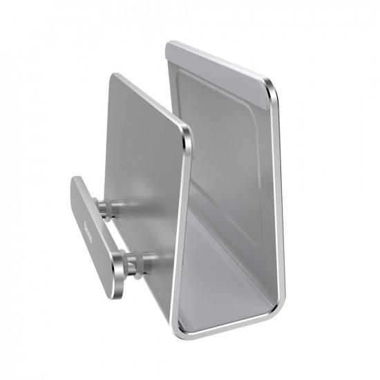 Baseus Wall-Mounted Metal Holder - Επιτοίχια Βάση Στήριξης Κινητών - Silver - SUBG-0S