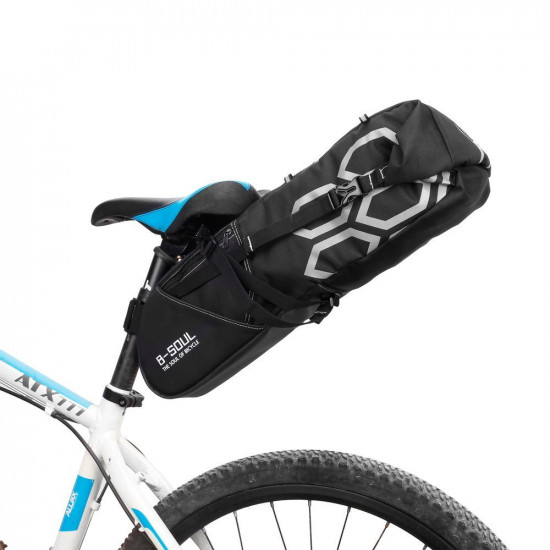 B-Soul Μεγάλη Αδιάβροχη Βαλίτσα Σέλας Ποδηλάτων 12 Λίτρων - Black - YA238