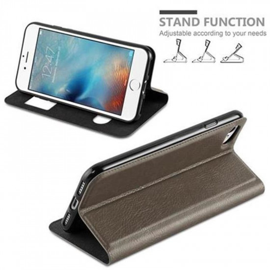 Cadorabo Apple iPhone SE 2020 / iPhone 7 / iPhone 8 Θήκη View Βιβλίο Stand - Brown
