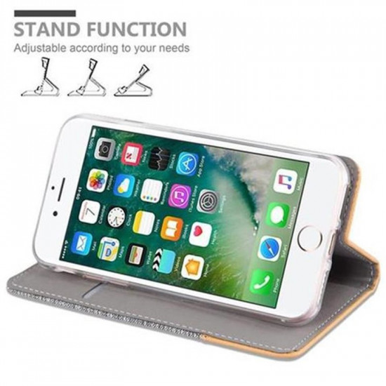Cadorabo Apple iPhone SE 2020 / iPhone 7 / iPhone 8 Θήκη Βιβλίο Stand - Light Grey - Brown