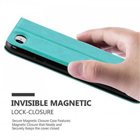 Cadorabo Apple iPhone SE 2020 / iPhone 7 / iPhone 8 Θήκη View Βιβλίο Stand - Turquoise
