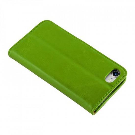 Cadorabo Apple iPhone SE 2020 / 7 / 8 Θήκη Πορτοφόλι Stand από Δερματίνη - Brown - Green