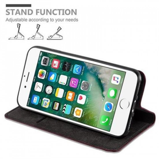 Cadorabo Apple iPhone SE 2020 / iPhone 7 / iPhone 8 Θήκη Βιβλίο Stand - Apple Red