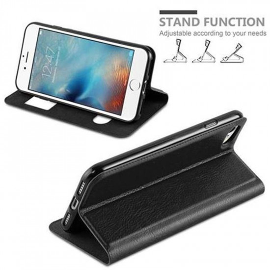 Cadorabo Apple iPhone SE 2020 / iPhone 7 / iPhone 8 Θήκη View Βιβλίο Stand - Black