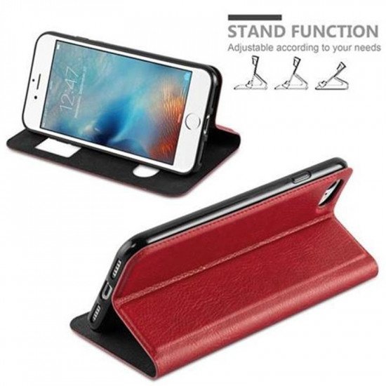 Cadorabo Apple iPhone SE 2020 / iPhone 7 / iPhone 8 Θήκη View Βιβλίο Stand - Red