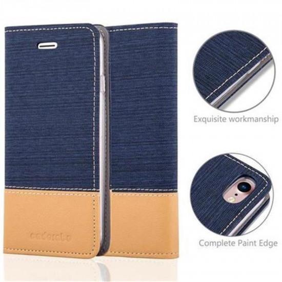 Cadorabo Apple iPhone SE 2020 / iPhone 7 / iPhone 8 Θήκη Βιβλίο Stand - Blue - Brown