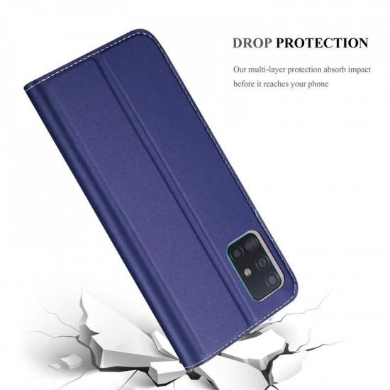 Cadorabo Samsung Galaxy A51 Θήκη Βιβλίο Stand - Dark Blue
