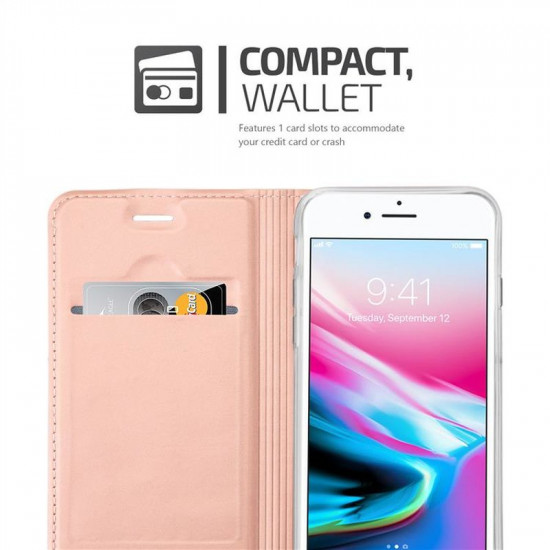 Cadorabo Apple iPhone SE 2020 / iPhone 7 / iPhone 8 Θήκη Βιβλίο Stand - Rose Gold