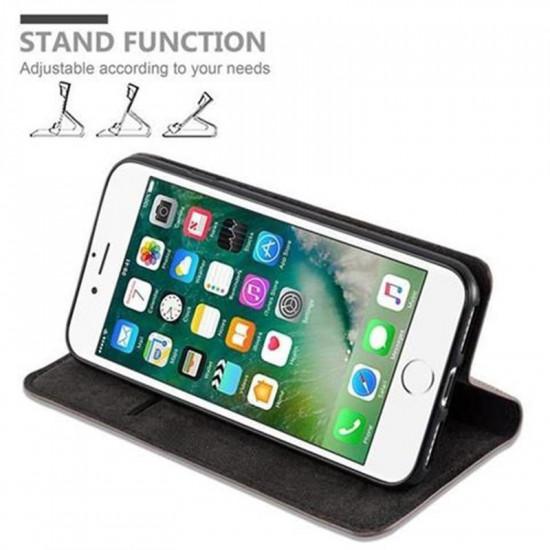 Cadorabo Apple iPhone SE 2020 / iPhone 7 / iPhone 8 Θήκη Βιβλίο Stand - Coffee Brown